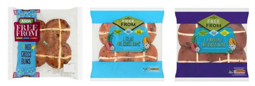Hot cross buns nutritional comparison