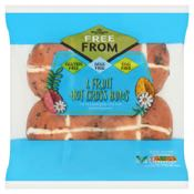 Morrisons Free From 4 Fruit Hot Cross Buns