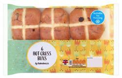 Sainsbury's Hot Cross Buns x6