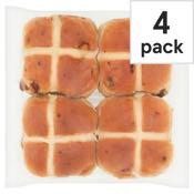 Tesco Hot Cross Buns 4 Pack