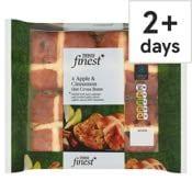 Tesco Finest 4 Apple & Cinnamon Hot Cross Buns