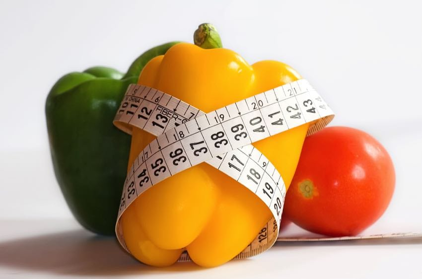 Veg and weight loss concept