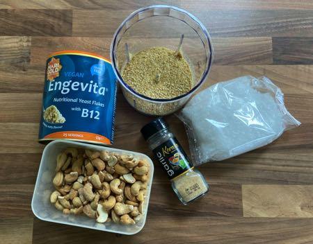 Vegan Parmesan Ingredients