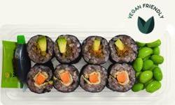 Ocado Black Rice, Avocado and Mint Sushi