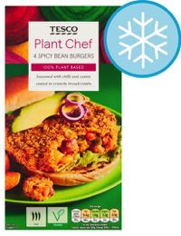 Plant Chef Spicy Bean Burgers