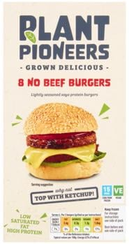 Plant Pioneers No Beef Burgers