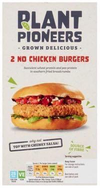 Plant Pioneers No Chicken Burgers