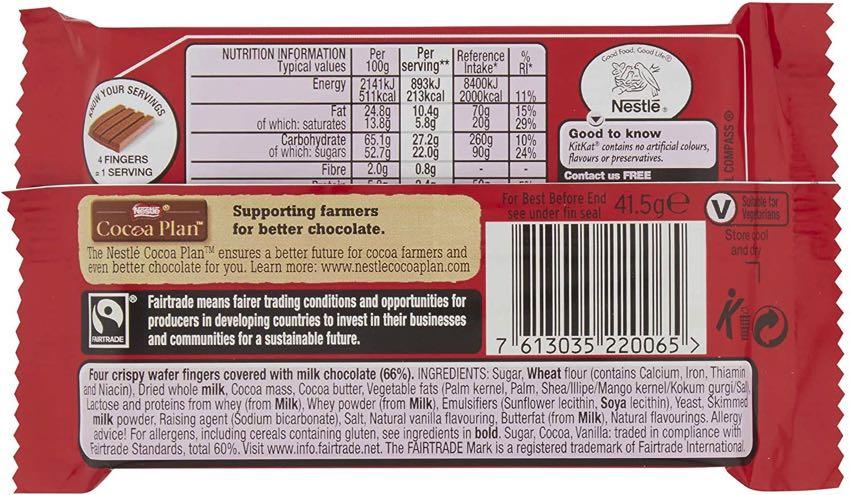 KitKat original ingredients