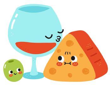 Vegan cheese cartoon