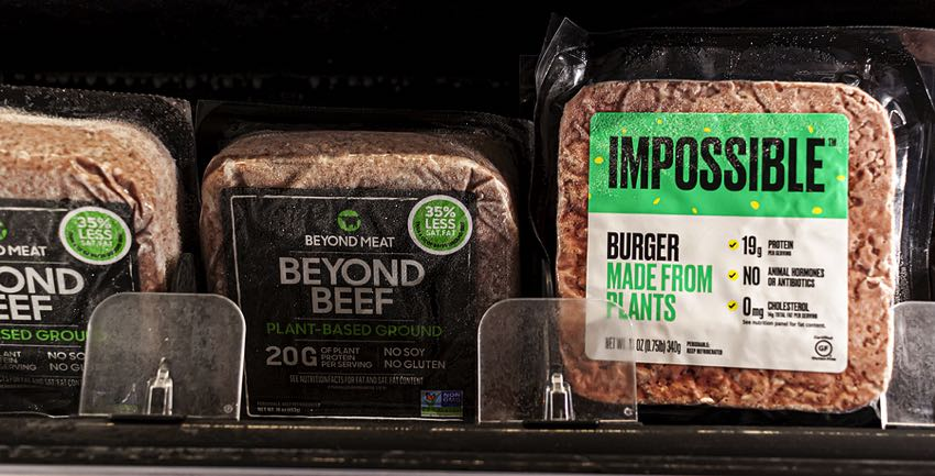 Impossible & Beyond Beef burgers
