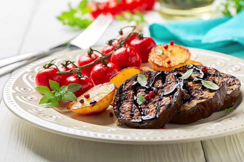Roasted eggplant steaks